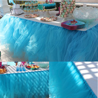 Colorful Flower Hawaiian Luau Tropical Party Tulle Table Ski...