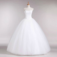 Romantic Sweetheart Lace Tulle Ball Gown Wedding Dresses 201...