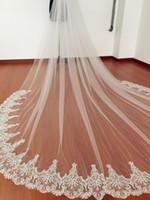 2020 новый один слой Свадебная вуаль белый Iovry кружева кромки свадебные вуаль собор длиной с расческой