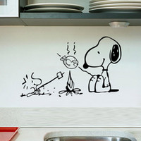 Barbecue dog wall stickers sitting room bedroom kitchen Back...