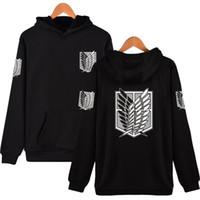 HIP-Pullover Angriff auf Titan-Hoodies mit Kapuze Sweatshirt Marke Männer Design Harajuku Kleidung Hop Recon Corps Ncnsl