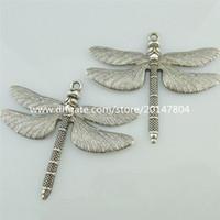 14807 Pendente a forma di libellula d'epoca in argento antico da 4 pezzi in argento antico