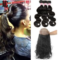 HC Brazilian Hair 3 Bundles Body Wave with 360 Full Lace Fro...