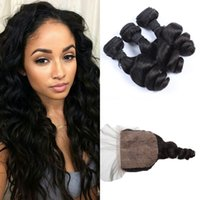 Peruvian Virgin Hair With Closure G- EASY Unprocessed Human H...