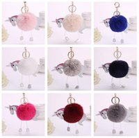 Brand new Unicorn plush pony hair ball pendant cartoon PU le...