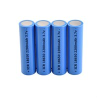 18650 Real Full Battery 2200mAh Rechargeable Batteries Flat ...