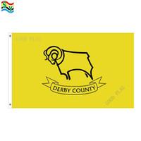 GoodFlag envío gratis Derby County Football Club banderas bandera 3X5 FT 90 * 150CM Polyster bandera al aire libre