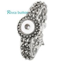 P00712 Hot por atacado pulseira de pulseira pulseira mais nova cadeia de design antigo antigo prata banhado bracelete vintage ajuste button jóias