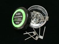 DIY отопление провода встроенные катушки для электронных сигарет готовые катушки Клэптон катушки витой чужой Тигр квада 9 типов
