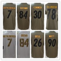 785b82ed5db ... 2017 Mens Olive Salute To Service 26 LeVeon Bell Jersey 84 Antonio  Brown 7 Ben Roethlisberger LeVeon Bell Jersey Youth Stitched ...