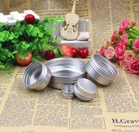 Alüminyum Kavanoz Dudak Balsamı Pot Kozmetik Kutusu Krem Emülsiyon Makyaj Krem Konteyner Boş için Doldurulabilir Krem Teneke