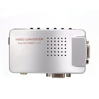 PC Konverter Box VGA zu TV AV RCA Signal Adapter Konverter Video Switch Box Composite Unterstützt NTSC PAL für Computer