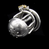 Nouveau dispositif de chasteté masculin de tube d'urètre d'acier inoxydable serrure de serrure A220