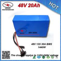 1000 Вт 48 В 20AH Электрический Батарея 48 В Литиевая Батарея 48 В E-bike аккумулятор встроенный 30А BMS 54.6 В 2.0A зарядное устройство бесплатная доставка