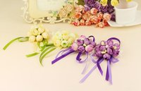 New Artificial Wrist Flower Bridesmaid Sisters hand flowers ...