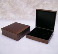 Kostenloser Versand Schmuck Display BoX Brown Armband Boxen Armreif Schatulle Kunststoff Qualität Schmuck Geschenk Verpackung Box Organizer Fall