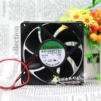 SUNON KD1208PTS1 2.6W 8CM 8025 80*80*25MM 12V two wire cabinet power dissipation fan