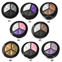 3 Colors Natural Matte Eyeshadow Palette Makeup Eye Shadow Palette Nude Smoky Eye Shadow Glitter