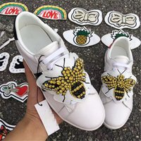 Ace Sneaker With Removable Patches Embroidery Flats Women Es...