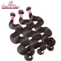 Greatremy® Mongólio cabelo de trama de cabelo onda ondulado 3 pçs / lote remy extensão de cabelo humano natural pacote de cabelo preto greatmy preço atacado