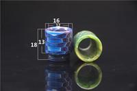 3 Estilos Patrón de piel de serpiente 510 810 Hilo Puntas de goteo de resina epoxi Boquilla de calibre ancho para TFV8 TFV12 Kennedy 528 v1.5 TFV8 Bebé