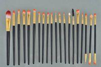 20 шт. Набор 4 цветов кисти для макияжа набор теней для век карандаш для глаз губ кисти инструмент Марка макияж кисти пинцет maquiagem с DHL бесплатно