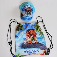 Moana 2 piece Backpack and Cap for children Both Sides Print...