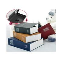 Heißer Verkauf 4 Farben Stahl Wörterbuch Versteckte Sicherheitsgeheimnis Tresor Safe Buch, Kleine Geld Münze Shop Key Lock Box