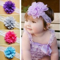 Girl Headbands solid colors baby bows Flower Headwear Childr...