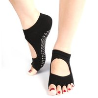 Wholesale- Super Comfort Durable Socks Half Toe Ankle Grip Fi...