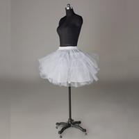 Vintage Mini Petticoats Spandex Bel Yok Hoop Kemik Üç Katmanlar Böcek Petticoat Kısa Düğün Parti Balo Elbise Etek Ücretsiz Kargo