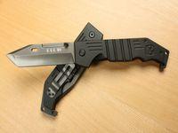 미국 M9 티타늄 접이식 나이프 440C 59HRC 전술 캠핑 사냥 생존 포켓 나이프 유틸리티 걸쇠 EDC 핸드 도구 크리스마스 남자 컬렉션