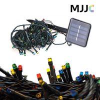 60/100/200 태양 Xmas Gardan 실내 옥외 크리스마스 훈장을위한 태양 에너지 힘 요정 빛 끈 램프를지도했다