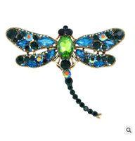 L'Europe et les Etats-Unis vendent une broche en diamants de haute qualité avec deux animaux libellules