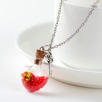Original Driften Flasche Lively Pendent Halskette Kreative Natur Trockene Blumen Frauen Halsketten-Herz-Glas-Halskette Mädchen Weihnachtsgeschenk