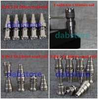 تعديل التيتانيوم مسمار 14.5 الصف 2 التيتانيوم مسمار الكوارتز مسمار الصف 2 التيتانيوم 14 ملليمتر 19 ملليمتر GR2 تي الأظافر التدخين الزجاج بونغس الملحقات