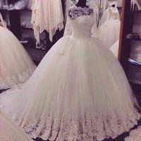 2020 fotos reais de vestidos de casamento de linha com Sheer longas mangas de renda apliques Varrer casamento Train nupcial baratos Vestidos Para Garden Country