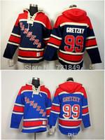 2016 MENS NY NEW YORK RANGERS Jerseys con capucha # 99 Wayne Gretzky Old Time Hockey Sudaderas con capucha Sudaderas Tamaño Bajo Precio
