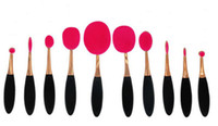 Professional Makeup brush Oval Toothbrush Women 10pcs Founda...