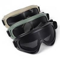 NOUVEAU Chasse Airsoft Yeux tactiques Protection Metal Mesh sténopé lunettes Goggle