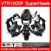 HONDA SuperHawk 용 바디 VTR1000F 1997 1998 1999 실버 불꽃 2000 2002 2003 2004 2005 91NO82 VTR 1000F 97 98 99 00 01 02 03 04 05 페어링