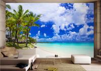 Foto papel pintado playa personalizada vista del mar Wallpaper For Walls 3 d sala de estar 3d fondo pared europea mural