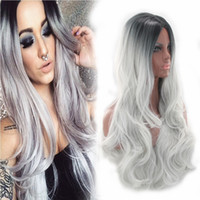 Z&F Grey Wig Ombre Grey Bob Women' s Synthetic Wig 65cm ...