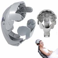 الدماغ رئيس مدلك Buru-Buru خوذة الرأس Massageador فروة الرأس الاسترخاء تهتز الاهتزاز الوخز بالإبر الكهربائية محفز العصب