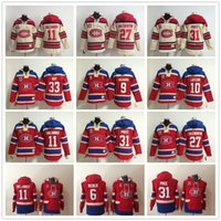 몬트리올 Canadiens 후드 6 시어 Weber 31 캐리 가격 Patrick Roy 11 Brendan Gallagher 67 Max Pacioretty Alex Galchenyuk Hoody Sweatshirts