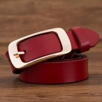 2017 marque de mode 100% en cuir véritable femmes ceinture en métal broche  boucle ceintures 00b8ed91843