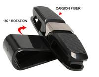 Gafas de sol del coche Clip de sujeción Caja de la tarjeta de fibra de carbono Gafas Gafas de sol Visera Sombrilla Estiba Ordenando Almacenamiento Anteojos Accesorios para automóviles