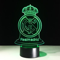 2017 RealMadrid Award 3D Optical Lamp Night Light Night Ligh...