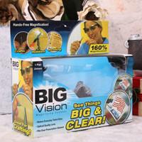 Atacado Grandes óculos de plástico de visão 160 graus Eyewear de lupa que torna tudo maior e mais claro com pacotes de varejo