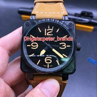 High quality 46mm large size watch new style square stainles...